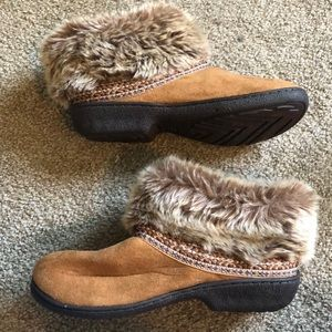 Fur Isotoner Slippers - Size 7.5-8